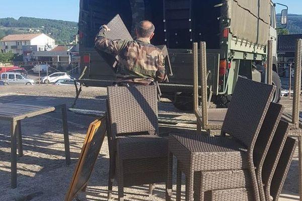 A Bessèges (Gard), un restaurateur s'est fait cambrioler le mobilier de sa terrasse... Par l'un de ses confrères.