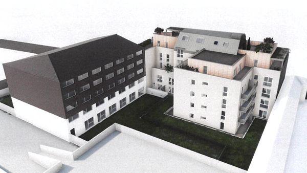 Projet d'immeuble au 40 rue de la mare au Parc, rive gauche à Rouen