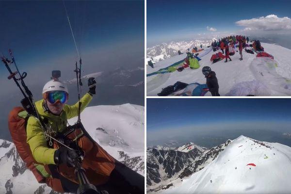 Mercredi, 150 parapentistes ont profité des conditions optimales pour se poser au sommet du Mont-Blanc.