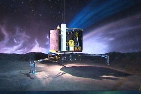 Le robot atterrisseur Philae reproduit grandeur nature est la star de la nouvelle exposition de la Cité de l'Espace