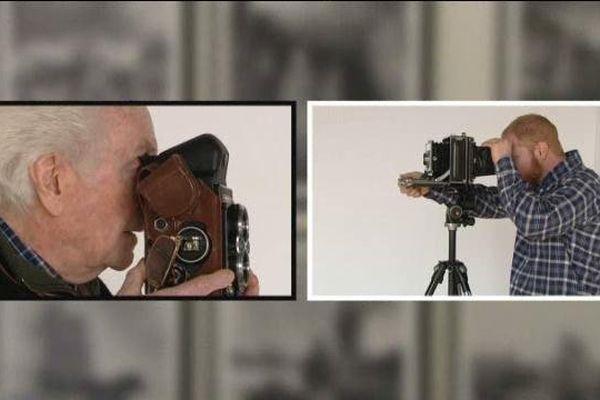 Deux photographes français, André Gamet et Karim Kal, séparés par plusieurs décennies.