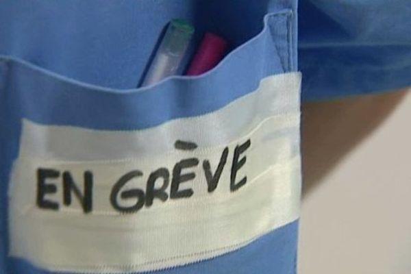 Grève du personnel hospitalier. Archives.