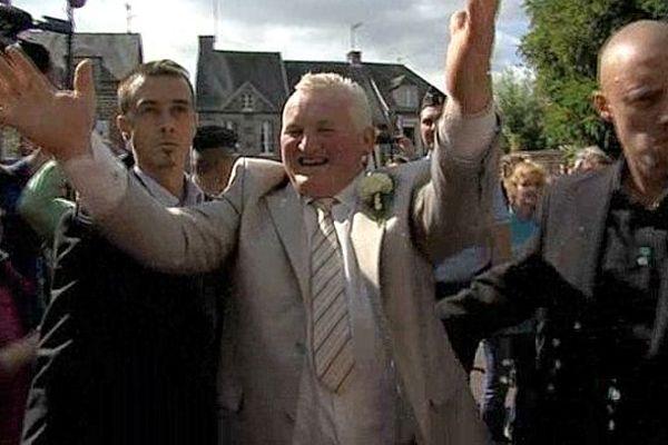 Thierry, la star de Gavray, lors de son mariage le 15 septembre 2012