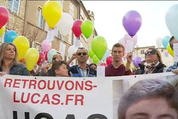 Un lâcher de ballon était organisé pour la recherche de Lucas samedi à Bagnols-sur-Cèze
