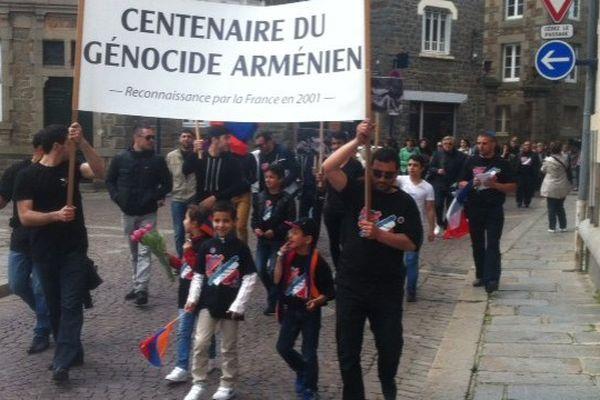 La commémoration du génocide arménien Saint-Brieuc (22)