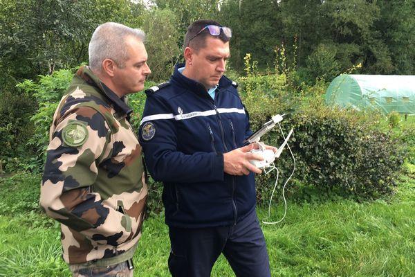 Les gendarmes ont utilisé un drone pour retrouver la trace de Valentin.
