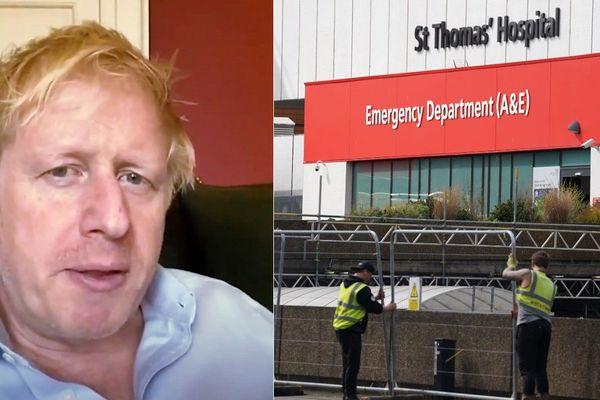 Boris Johnson en soins intensifs à l'hôpital Saint Thomas de Londres.