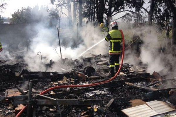 Incendie de caravane à Perpignan