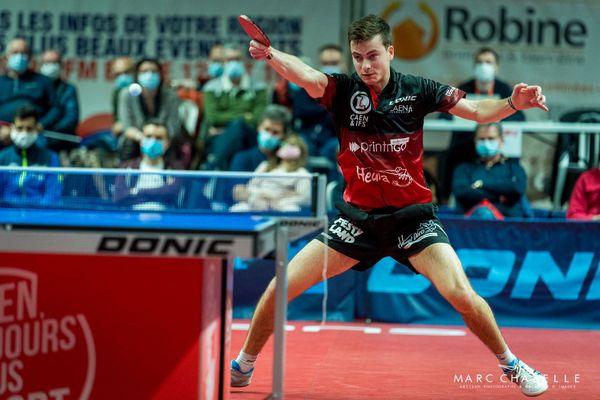 Le club Caen TTC (ici Antoine Hachard) reçoit Istres au Palais des Sports de Caen, le vendredi 27 novembre 2020, dans une rencontre comptant pour la 4e journée de Pro A.