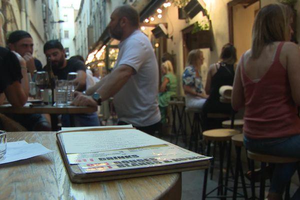 Etablissement de la rue des Fabriqués Couvertes à Perpignan, le 27 juillet 2021.