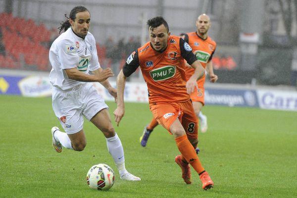Lors de la rencontre entre Laval et Brest le 03 janvier 2015 en coupe de France