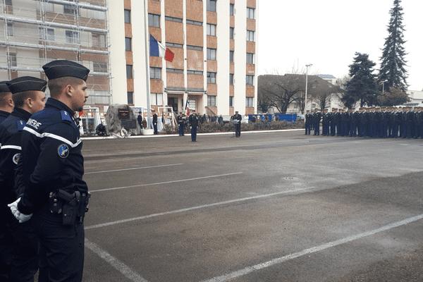 Hommage de la gendarmerie à la caserne Dessaix, à Annecy