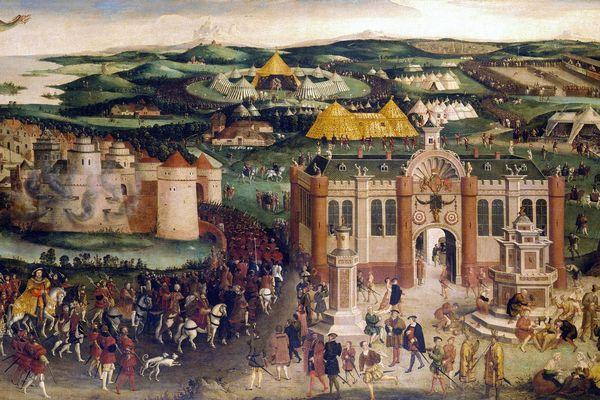 Le plus célèbre tableau consacré à la rencontre du Camp du Drap d'Or se trouve au palais de Hampton Court.
