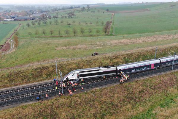 Le TGV accidenté ce 5 mars