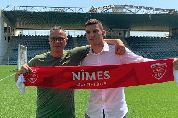 Vlatko Stojanovski signe à Nîmes - juillet 2019.
