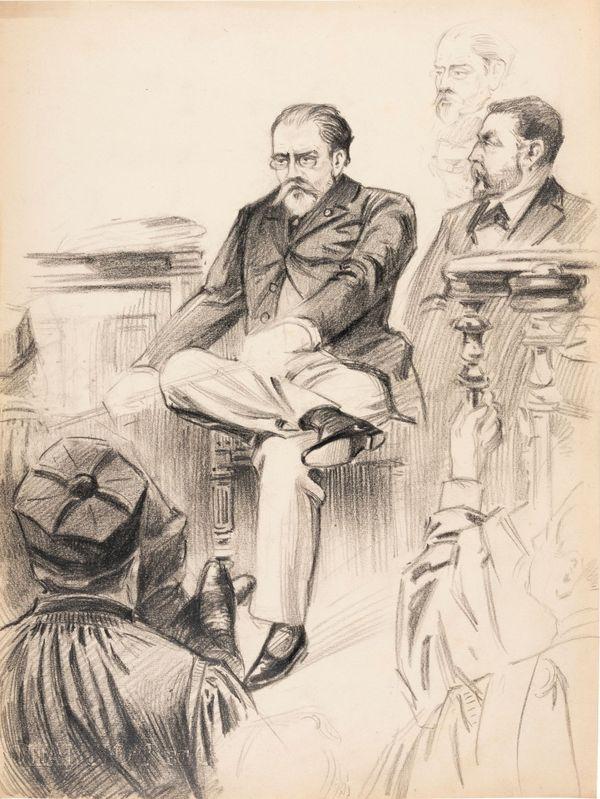 Emile Zola dessiné par Maurice Feuillet