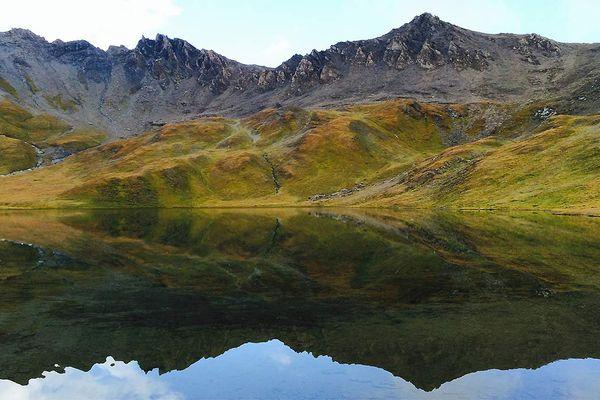 Vers le refuge du Col du palet (Tignes) dans le parc national de la Vanoise