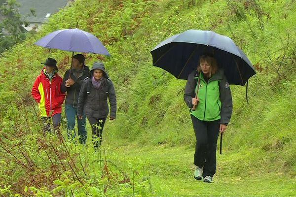 C'est le grand jour pour les randonneurs et les amoureux de la montagne. Même sous la pluie intense, quelques kilomètres de bonheur en vallée d'Aspe.