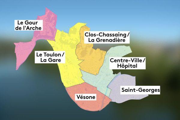 Les 6 nouveaux arrondissements créés par la ville de Périgueux