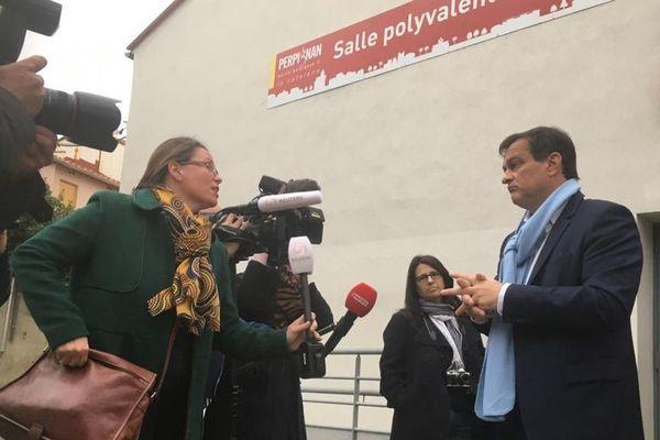 Louis Aliot a voté à Perpignan