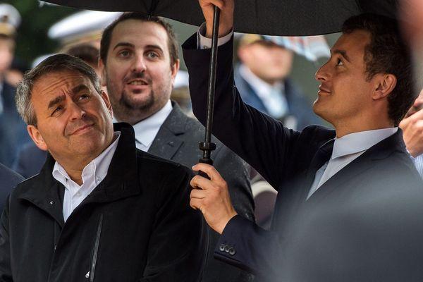Xavier Bertrand et Gérald Darmanin, le 24 juin 2017 à Calais.