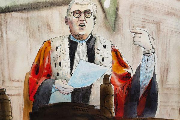 Montpellier - l'avocat général Georges Gutierrez requiert la réclusion criminelle à perpétuité contre Rémi Chesne et 10 ans de prison pour Audrey Louvet - 28 janvier 2021.