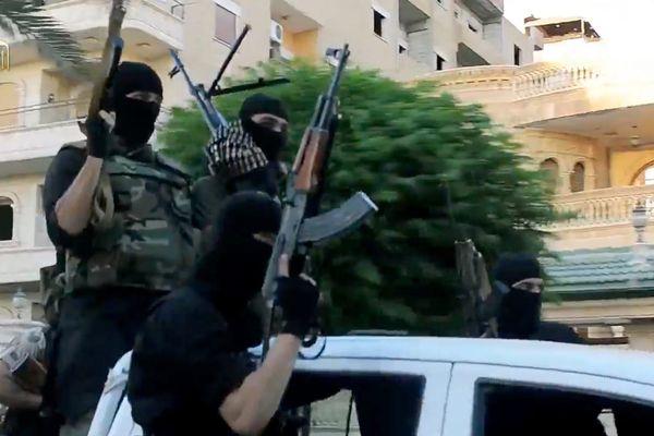 Capture d'une vidéo de propagande de Daech en avril 2016.