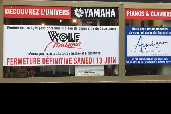 La fermeture de Wolf Musique est un choc pour bon nombre de Strasbourgeois qui venaient y choisir leurs instruments et leurs partitions