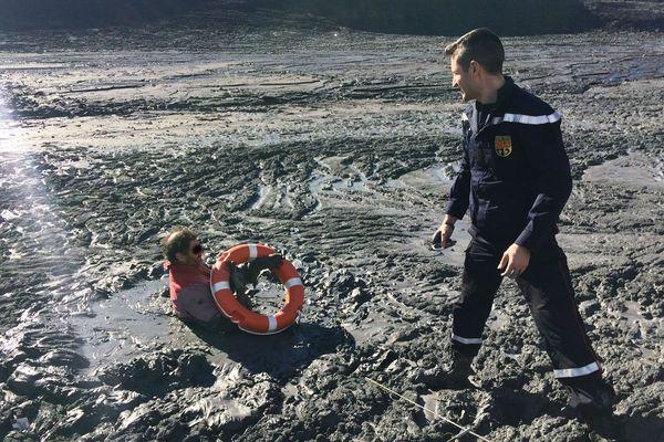 Le pêcheur a été sauvé in extremis.