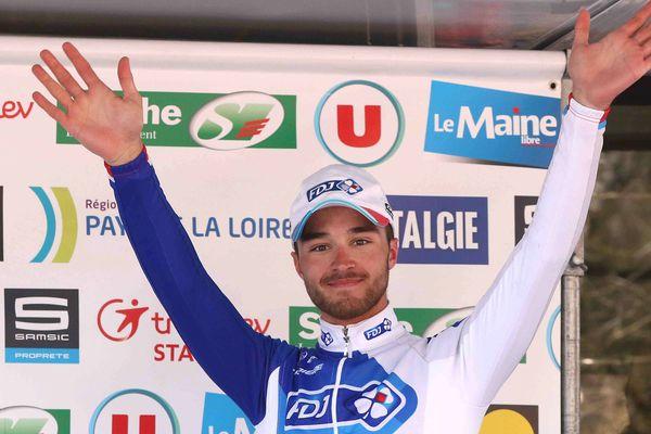 Marc Fournier au terme de la troisième étape du Circuit de la Sarthe.