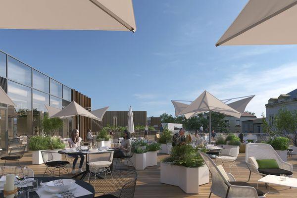 Image de synthèse du futur quartier commercial Montaigne.
