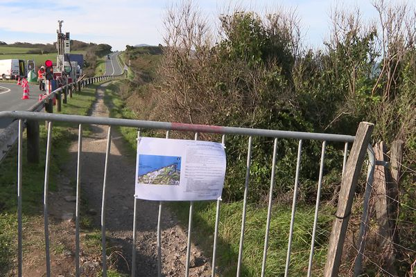 Le sentier de la corniche fermé le temps des sondages géotechniques de la falaise