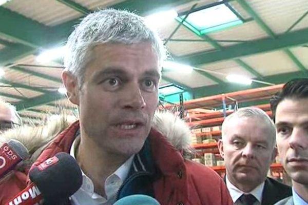 Laurent Wauquiez en déplacement en Haute-Savoie