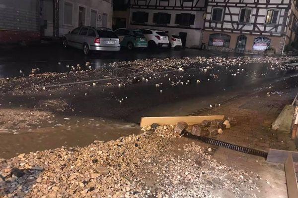 Coulées de boue à Ferrette (68)
