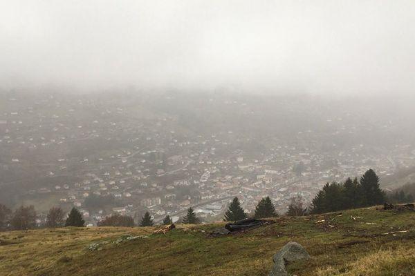 De la pluie et du vent au programme de ce début de vacances d'hiver 2018 sur le massif Vosgien.