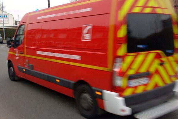 illustration camion de pompiers