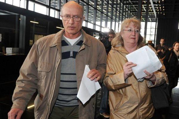 Gilles Patron et sa femme Michèle à leur arrivée au palais de Justice de Nantes,  le 30 mai 2013