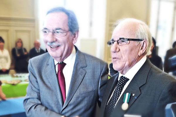 Alain Rodet et Camille Geutier cette après-midi à la mairie de Limoges.