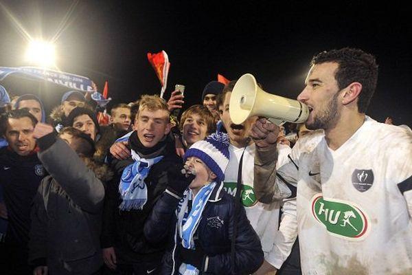 La fête à Granville après la qualification pour les quarts de finale de la Coupe de France.