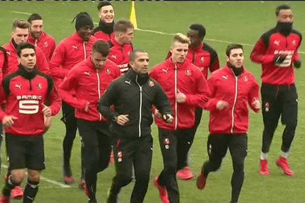 Entrainement des Rouge et Noir avant de recevoir le PSG pour les 32ès de finale de la Coupe de France