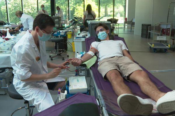 Ce lundi 14 juin 2021, 250 personnes ont donné leur sang, au centre des Congrès d'Angers.