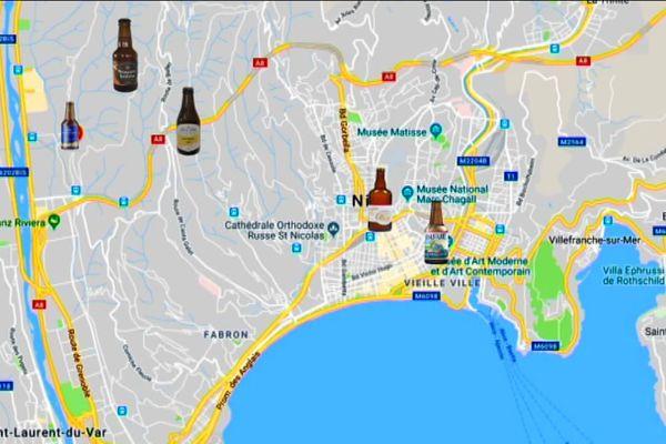 La cartographie des brasseries artisanales à Nice