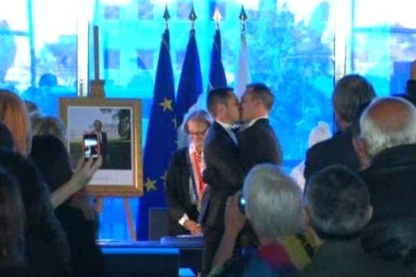 Il y a un an la maire de Montpellier, Hélène Mandroux, célébrait le premier mariage homosexuel.