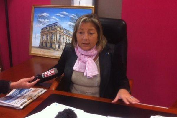 Natacha Bouchart, ce jeudi en mairie de Calais.