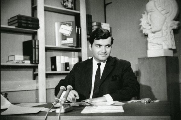 Jimmy Jonquard sur le plateau TV de Nancy Thermal. Juillet 1967.