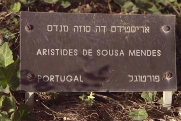 """Plaque honorifique à Jérusalem au titre de """"Juste parmi les Nations"""""""