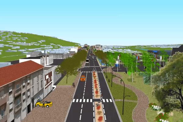 simulation 3D du projet RD1089