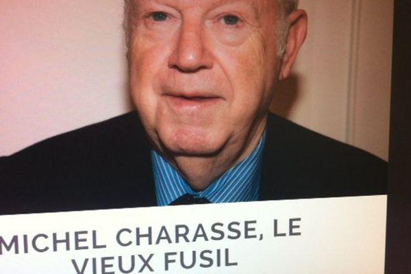 Capture d'écran sur le site de la revue Charles : Entretien avec Michel Charasse pour le 20ème anniversaire de la mort de François Mitterrand