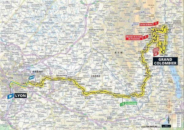 Le parcours de la 15e étape du Tour de France 2020