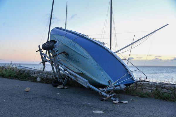 La tempête Alex est passée par Quiberon